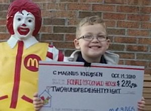 Ronald Mcdonald House 5-year-old donator- NBCvid