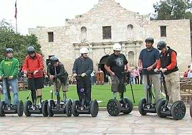 segways-for-vets-ceremony at the Alamo
