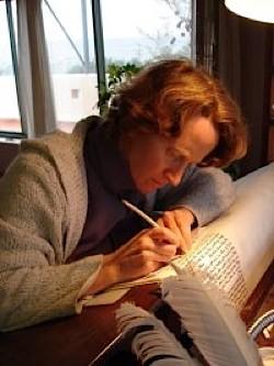 The Women's Torah project trained Shoshana Gugenheim as a scribe
