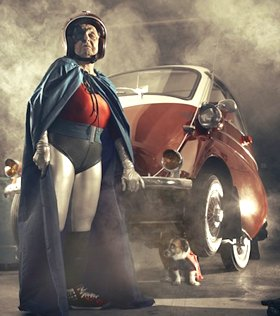 Grandma superhero photo by Sacha Goldberger