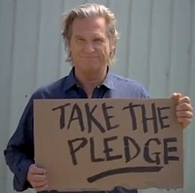 Jeff Bridges Take-the-pledge, NoKidsHungry.org