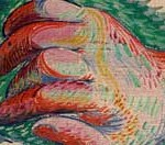 Picasso painting of a hand