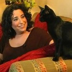 Gwen Cooper, author of Homer's Odyssey, with her cat, Homer