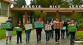 gift donations from HS kids -ktvu video
