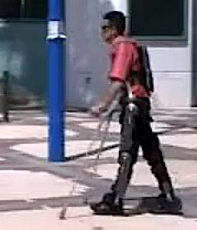 paralyzed man uses ReWalk device
