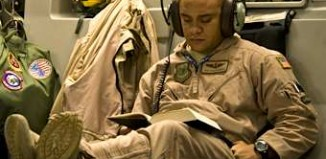 soldier reading - DOD photo