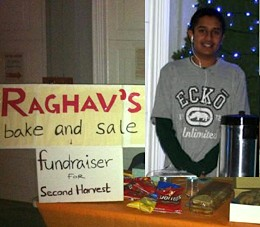 Raghav Sehtia bakesale for charity