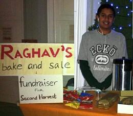 Raghav Sehtia bakesale for charity