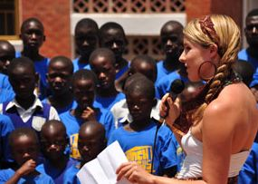 Uganda orphans with Brittany Merrill, UAPO org photo
