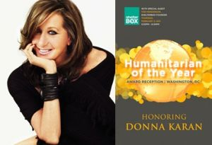 Donna Karan honored in DC for Haiti service