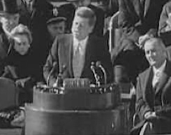 JFK iinnaugural address, JFK library video