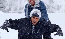obama plays in snow with daughter