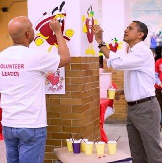 Pres. Obama volunteers on MLK Day