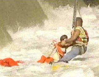 river rescue using crane, CBS video