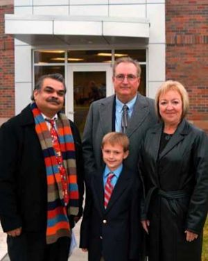 Rector family with grandson and Dr. Manish Dixit