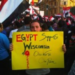 sign from egypt sending support to Wisconsin workers