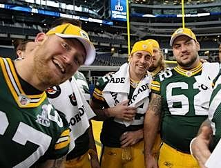 Green Bay Packers tour Dallas Stadium before Super Bowl -GBP-photo