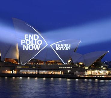 Sydney Opera House displays Rotary's message