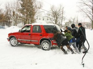 Helpful pedestrians in Grand Rapids, Mich by Victoria Fanning