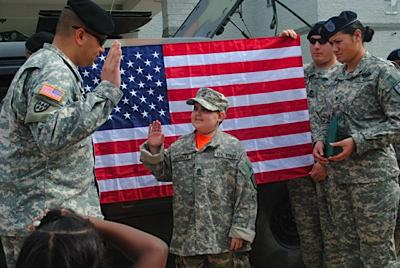 Brennan was inducted as Honorary Army soldier