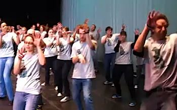 flash-mob Thriller Chicago area HS