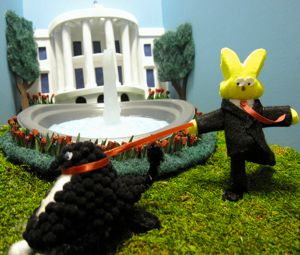 "Peeps used in this diorama ""Little Bo Peep"" WashPost photo (fairuse copyright)"