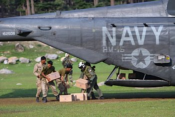 US Navy sends relief to Asia - DOD photo