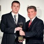 Stevie Award winner, Michael White (left)
