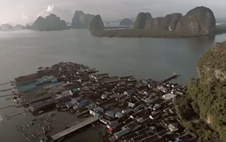 Thailand island village where football rules