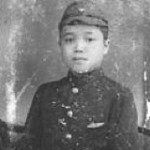 Japanese boy in WWII photo