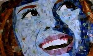 Sandhi Schimmel Gold portrait of Marilyn Monroe