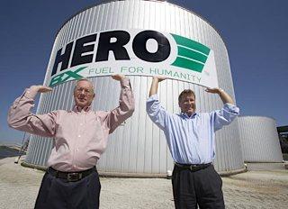 biofuel tanks at Hero BX in Pennsylvania