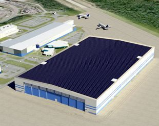 Boeing factory solar design