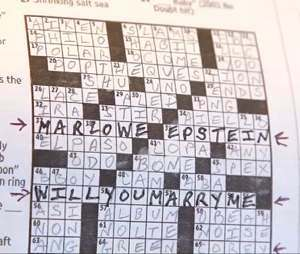 Washington Post crossword marriage proposal