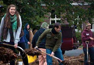 gardening at UMass by Shaina Mishkin