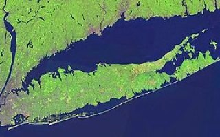 Long Island satellite image
