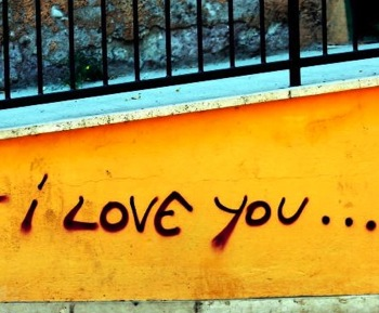 """I love you"" graffiti by clarita via morguefile"
