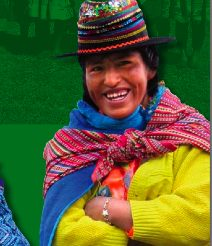 Peruvian woman helped by Finca Peru