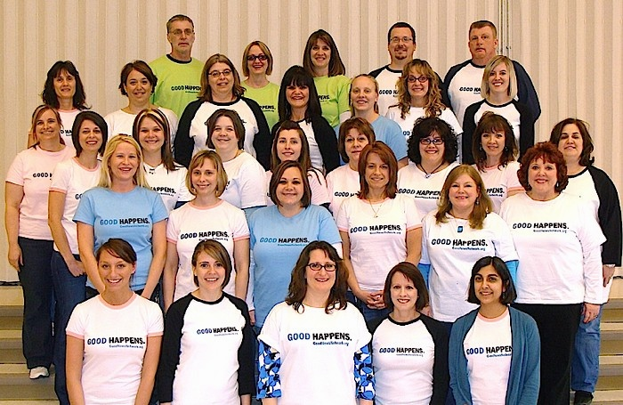 Stevenson Elementary teachers show off new tees from Good News Network