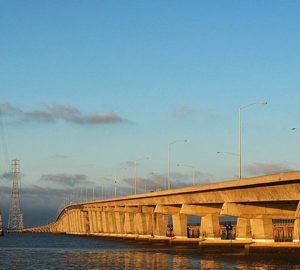 Dumbarton Bridge Oakland to SF, by Darin Marshall (CC)