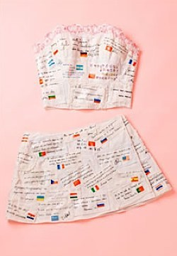 Support of Japan Bra and skirt