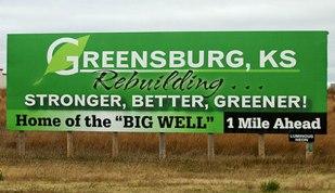 Greensburg, Kansas is rebuilding
