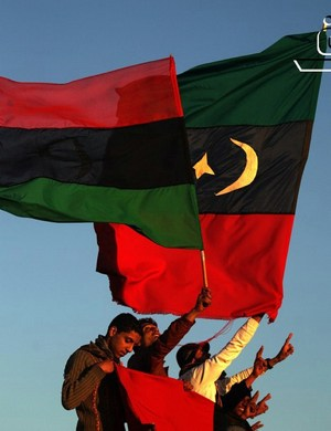photo of Libyan flags by BRQ, via Flickr-cc