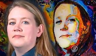 CBS video shows portrait and subject of blind painter