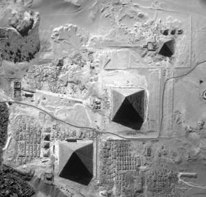 pyramids via NASA satellite