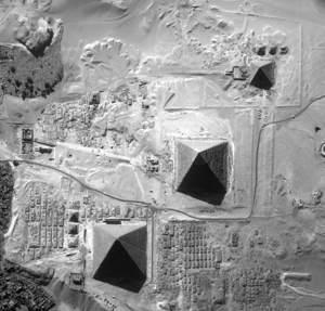 pyramids via NASA satellite