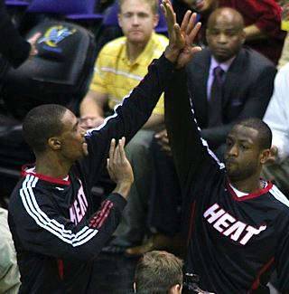 Chris Bosh and Dwayne Wade, by Keith Allison-CC Flickr