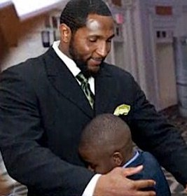 NBC Video of NFL player hugging orphan of river suicide tragedy