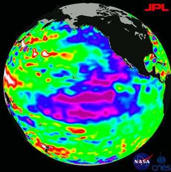 La Nina weather satellite image NASA