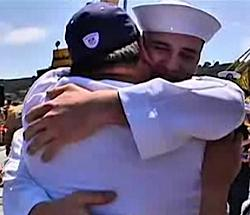 NBC San Diego witnesses a touching homecoming moment